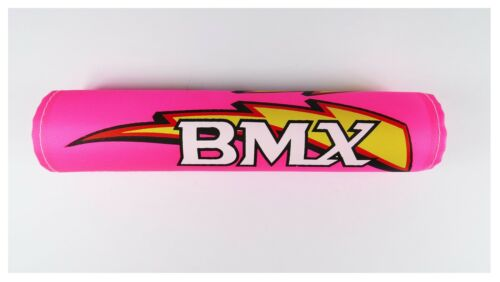 "BMX old School Retro handle bar frame foam Crash Pad Set Pink for 16/"" bike 3457"
