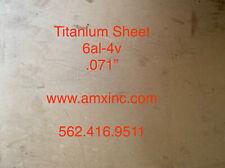 Titanium Sheet 6al 4v 071 X 12 X 12