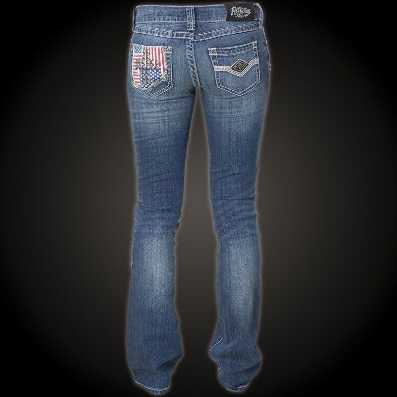 Affliction Jeans da Donna GIADA Brynn PATRIOT BLU BLU BLU Affliction Jade Brynn 2b24ea