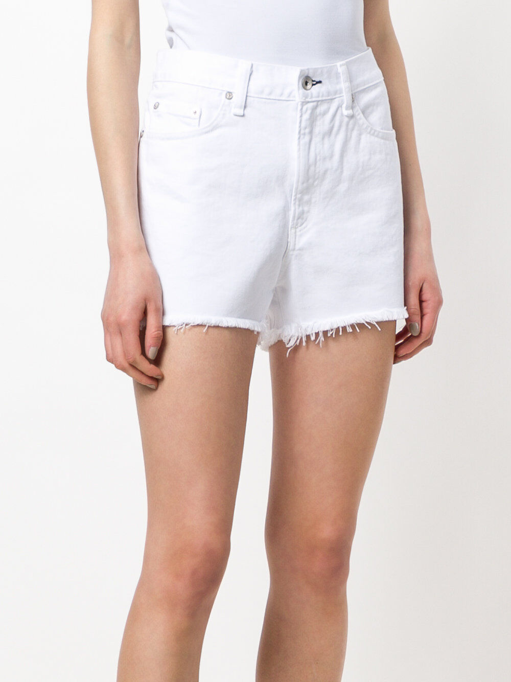 NWT Rag & Bone Women's Jean Shorts - Boyfriend In Aged Bright White SZ 31