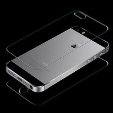 Deluxe Front and Back Tempered Glass Film Screen Protector for iPhone SE 5 5S