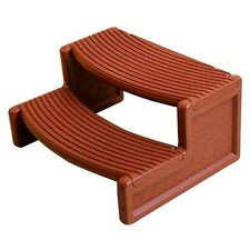 Confer Plastics HS2-R Resin Multi Purpose Spa Hot Tub Handi-Step Steps | Redwood