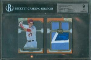 2014-Topps-Triple-Threads-TROUT-TTJPR-MT-All-Star-Patch-Booklet-1-1-BGS-9