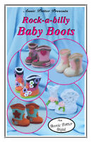 Baby Booties Rock-a-billy Style Boots Newborn - 18m Annie Potter Crochet Booklet