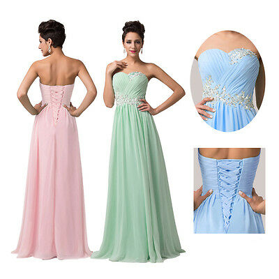 SUMMER SALE Long Maxi Chiffon Bridesmaids Party Cocktail Prom Evening DRESS PLUS