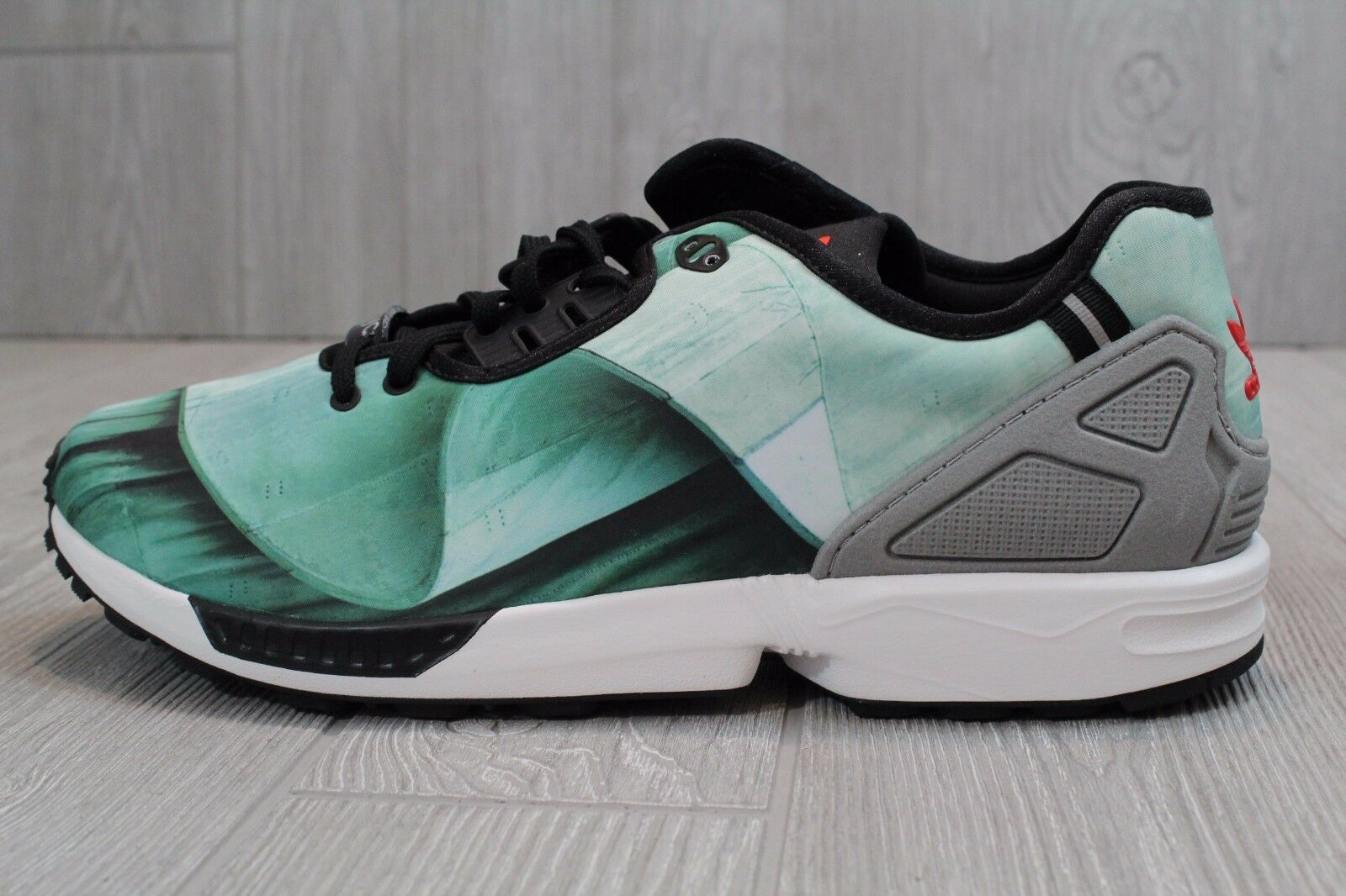 22 New Mens ADIDAS ZX FLUX Decon Green Black Trainers B39524 Shoes Size 11.5