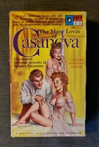 The-MANY-LOVES-OF-CASANOVA-V1-V2-rare-Holloway-House-sleaze-gga-pulp-vintage