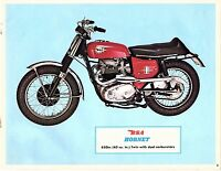 Vintage 1967 Bsa 650 Hornet Motorcycle Sales Brochure/flyer(reprint) $6.50