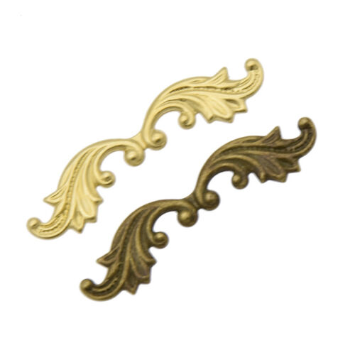 Brass Leaf Shaped Stamping Scrapbooking Filigree Embellishment DIY Crafts