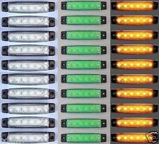 30x 12V 6 LED Lato Posteriore MULTICOLORE Indicatore Lampadina Luce Camion