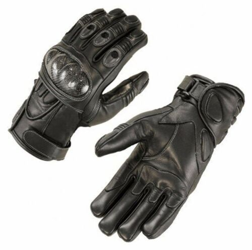 Motorbike Racing Gloves Motorcycle Goat Leather Glove Rider Kevlar Black Gloves.