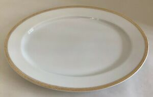 Antique-1920s-Bavaria-H-amp-Co-Serving-Tray-With-Gold-Rim-11-1-2