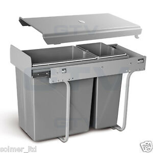 Image Is Loading Recycle Bin Pull Out Kitchen Waste 300mm