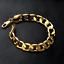 Fashion-Men-Women-18K-Gold-Plated-Ring-Chain-Bangle-Wide-Bracelet-Wristband-12MM thumbnail 4
