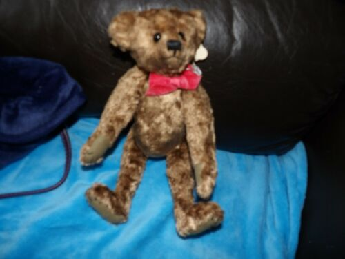 BNWT HAND CRAFTED LOU LOU COLLECTORS BEAR FROM MARY LOU FULLY JOINTED 12 INCH