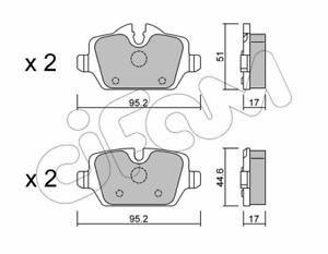 Cifam 822-641-0 Bremsbelagsatz Scheibenbremse