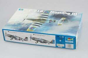 RAF-Mustang-III-P-51B-C-1-32-Fighter-Aircraft-Model-Kit-Airplane-02283-Trumpeter