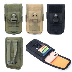 Detalles de Bolsa de teléfono celular Molle Al Aire Libre Utilidad Cinturón Paquete de la Cintura Bolsa Cubierta Estuche Teléfono Inteligente ver