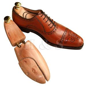 promo code 1377f 748fc Image is loading High-Quality-Cedar-Wood-Mens-Shoe-Tree-Wooden-