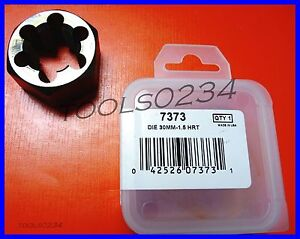"Irwin 6623 M5 X 0.90 Metric 1/"" Hex Rethread  Die 5MM Carbon Steel USA Made RH"