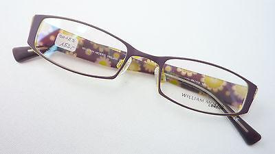 Brillen Fassung Metall Rand Bunter Blumen Musterbügel Lila Gelb Schmal Size M