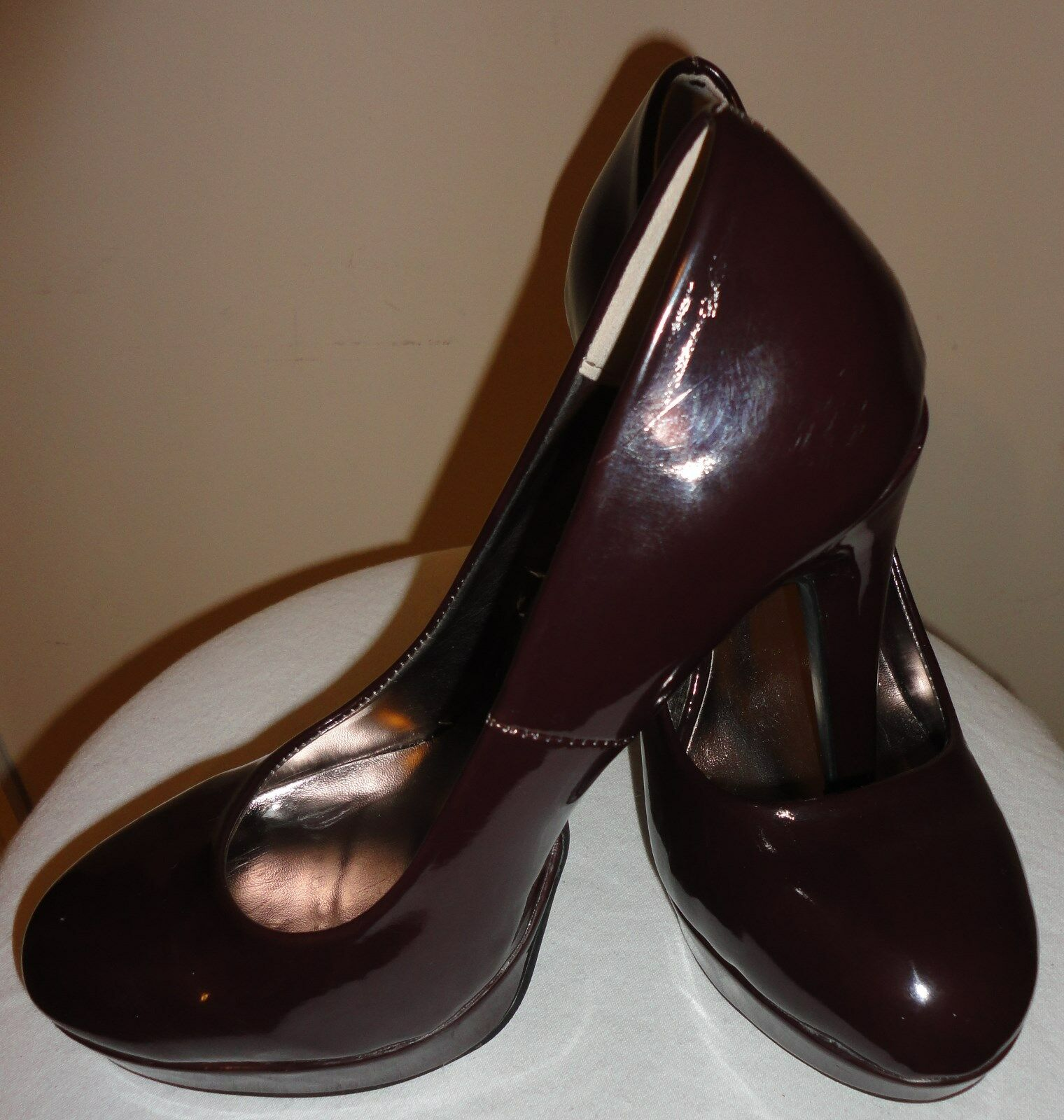 Steve Madden Patent Pumps Leather Pumps Patent 8.5 Burgundy c7f9cb