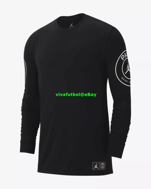 99c6fba8fed Nike Mens Jordan X Paris Saint-germain PSG BCFC Long-sleeve T-shirt ...