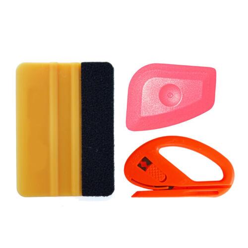 Car Vinyl Wrapping Tool Kit Felt Squeegee Gasket Scraper Window Tint Application