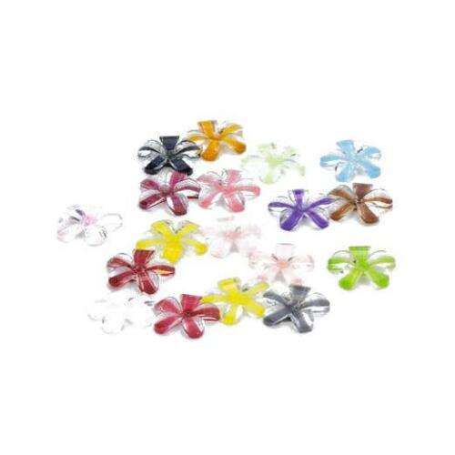 18pcs Mixed Colours #4760 Hobby /& Crafting Fun 12mm Resin Flatback Flowers