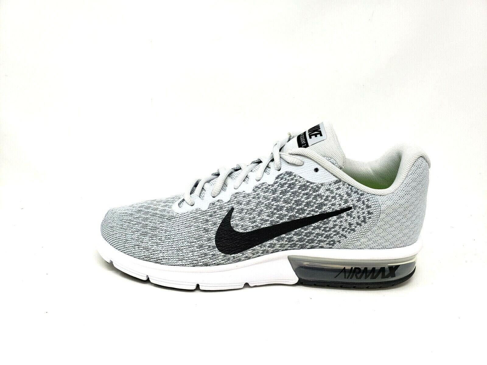 huge discount 7a931 2240a NEW Men s Air Max Sequent 2 Running shoes 852461-002 Grey Wht Blk 38P sm  NIKE oapmsk6957-Athletic Shoes