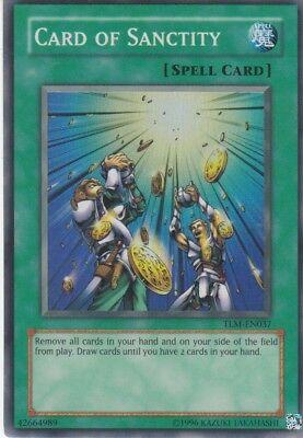 YUGIOH THE LOST MILLENNIUM CARD OF SANCTITY TLM-EN037 SUPER RARE UNLIMITED NM