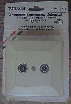 Aus Dem Ausland Importiert 2fach Antennendose Durchgangsdose Antennen-steckdose Sat Kabel Watson Mod. 9933