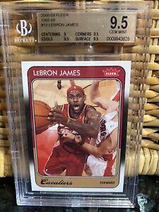 POP-7-2008-09-LeBron-James-FLEER-1988-89-RETRO-19-BGS-9-5-PSA-lakers-topps-MVP