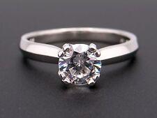 Scott Kay Platinum Round Diamond Solitaire Engagement Promise Ring Semi Mounting