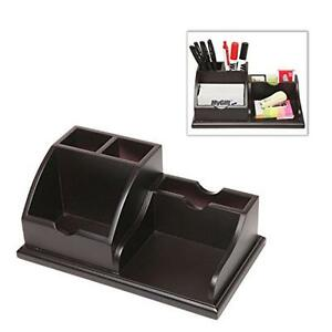 Mygift wooden desk top office supply organizer caddy pens business image is loading mygift wooden desk top office supply organizer caddy colourmoves
