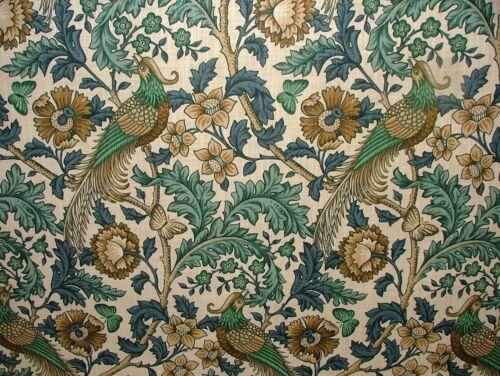 Cortina De Algodón oakmere cardenillo Tapicería Quilting fabric William Morris Estilo