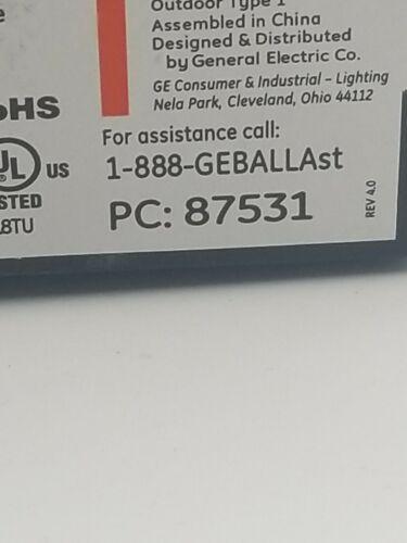 GE PC 87531 GEMH-70-MSF-120 GE LIGHTING 70 Watts 120 Metal Halide HID Ballast