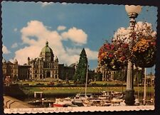 The Parliament Buildings Victoria BC Canada Vintage Post Card Unposted
