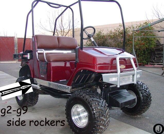 YAMAHA G2-G9  Diamond Plate Full Side Rocker Panels Golf Cart accessories