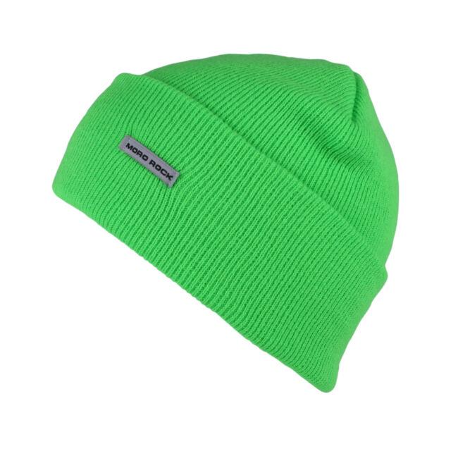 15,mororock Beanie Hat Knit Ski Cap for Women and Men Neon Green ... bf44181fef