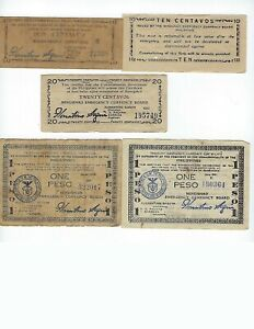 PHILIPPINES-GUERILLA-WORLD-WAR-II-MINDANAO-LOT-OF-8-DIFFERENT-VG-F