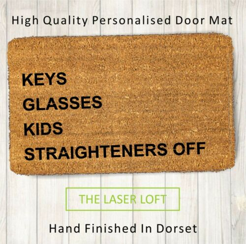 road or house name Coir Door Mat Reminder Can Be Personalised 40cm x 60cm