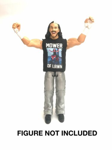 "WWE Matt Hardy /""tondeuse de pelouse/"" Custom Shirt pour Mattel figures."