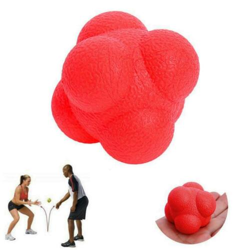 Forfar Outdoor Sports TPR Hexagonal Ball Solid Fitness Training Reaction CB