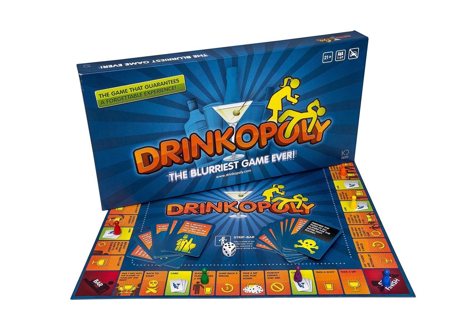 Das trinkspiel drinkopoly brettspiel partei brettspiel erwachsenen trinken
