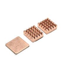 1 Set of Heatsinks 3 Pcs of Copper Heat Sink Cooling Kit for Raspberry Pi 3 CHE