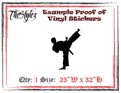 Karate Kid Sidekick Stance Oversize Wall Vinyl Sticker