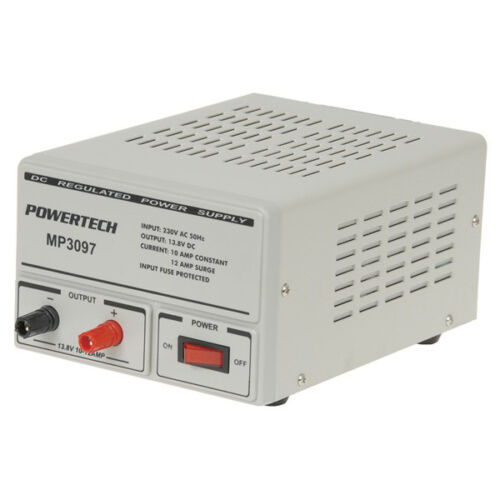 Powertech 13.8 Volt 10 Amp DC Linear Laboratory Power Supply