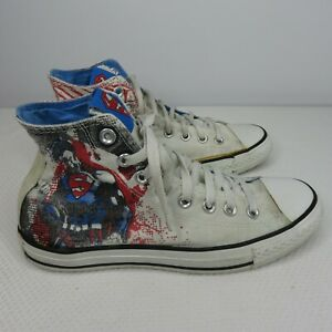 Converse-DC-Comics-Superman-Size-7-Men-039-s-9-Women-039-s-All-Star-Sneakers