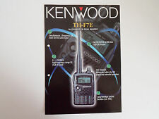 Kenwood TH-F7E (Genuino folleto sólo)............ radio_trader_ireland.